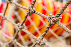 Close-up Rope Texture / Rope Texture / Close-up Rope in Playground Revealing Texture and Detail Royalty Free Stock Photos