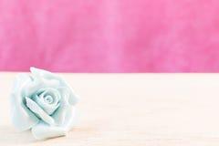 Close up Rosa pastel no fundo de madeira Imagens de Stock