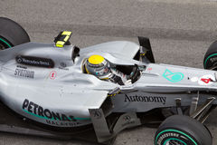 Close up of Rosberg at the Malaysian F1 Stock Images