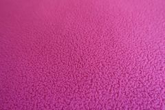 Closeup of rose red polar fleece fabric. Close up of rose red polar fleece fabric Stock Photos