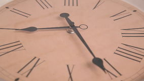 Close-up of rotating clock stock footage