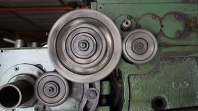 Close-up of rotating gears. Industries tool stock video footage