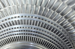 Close up rotor of a steam turbine Stock Photography