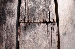 Close up rotten wood floor texture background Stock Images