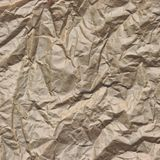 Close-up Of Rough Brown Wrinkled Packaging Paper Square Texture Royalty Free Stock Photos