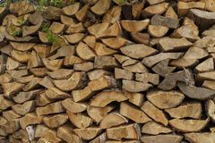 Billet of the stack of firewood Royalty Free Stock Images