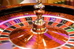 Close up of roulette at the gambling house, selective focus. Close up of roulette at the gambling house Royalty Free Stock Photos