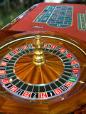 Close up of roulette wheel. With ball on 27 royalty free stock photography