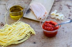 Italian   pasta ingredients Stock Photos