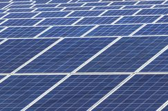 Close up rows array of solar cells or photovoltaics in solar power station convert light energy from the sun. Into electricity alternative renewable clean stock images