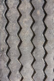 Close up rubber of grader wheel. Its was expired Stock Photo