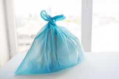 Close up of rubbish bag with trash at home Stock Photography