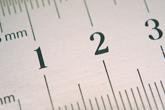 Close up of ruler Royalty Free Stock Photos