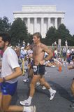 Close-up of runner in front of Lincoln Memorial, Washington, D.C. Royalty Free Stock Photography