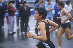 Close-up of runner in NY City Marathon Royalty Free Stock Photos