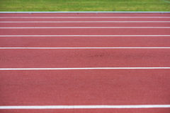 Close up on running track stock photo