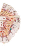 Close-up of russian banknotes. Five Thousand Ruble Notes Royalty Free Stock Images