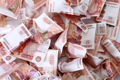 Close-up of russian banknotes. Five Thousand Ruble Notes Stock Photography