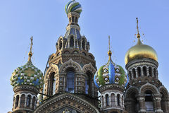 Close up of Russian church Royalty Free Stock Photo