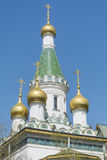 Close up of the  Russian Church   in Sofia,Bulgaria Royalty Free Stock Photo
