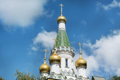 Close up of the  Russian Church   in Sofia,Bulgaria Stock Photography