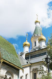 Close up of the  Russian Church   in Sofia,Bulgaria Royalty Free Stock Images