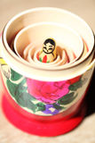 Close up of Russian Dolls. Royalty Free Stock Photo