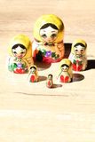 Close up of Russian Dolls. Stock Image