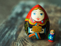 Close up of Russian traditional Dolls. Royalty Free Stock Photos