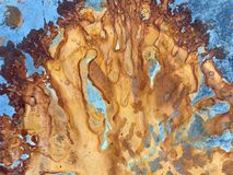 Abstract rust on metal design royalty free stock photography