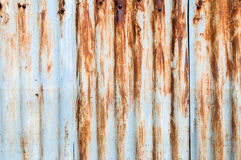 Close up Rusted galvanized iron plate Royalty Free Stock Photos