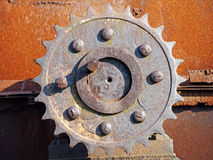 Close Up Of Rusted Gear. Old details from engine of the car Royalty Free Stock Photos