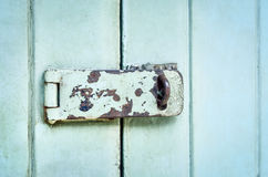 Close up of rusted keyhole Stock Photography