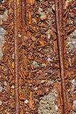 Rusted Tracks. Close up of rusted old train tracks stock images