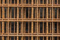 Close up of rusted old wire mesh. Rusty on surface of steel wire Royalty Free Stock Photo