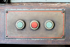 Close up Rustic control panel of old machine,grunge object Stock Photo