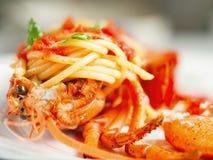 Ustic italian lobster spaghetti Stock Image