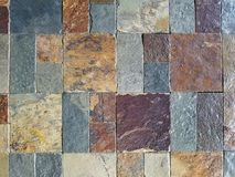 Textured stone tile design Stock Photography