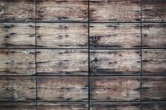 Close up of rustic wood panels
