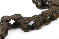 Close up of a rusty bike chain Royalty Free Stock Image