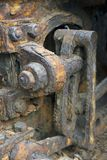 Close-up of rusty gears Royalty Free Stock Photo
