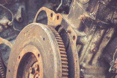 Close up rusty gears Royalty Free Stock Photography
