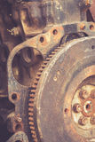 Close up rusty gears Stock Images