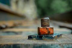 Close up rusty knot Stock Photo