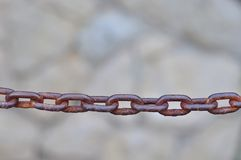 Close up of rusty metal chain Stock Photos