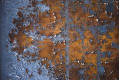 Close up of  rusty metal texture Royalty Free Stock Photography