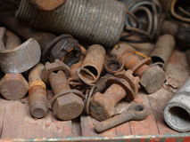 Close up Rusty Screw Stock Photography
