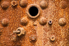 Close up of a rusty steam boiler Royalty Free Stock Image