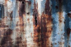 Rusty steel galvanize sheet wall background Royalty Free Stock Photography