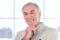 Close-up of s smiling senior businessman Royalty Free Stock Images